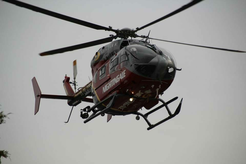 Nighting Gale Helicopter with Santa On Board